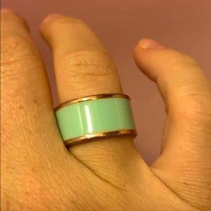 Tiffany blue costume ring